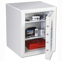 Phoenix Fortress White Fortress High Security Key Lock Safe 43L Fire Resistant 30mins