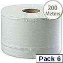Tork White SmartOne Dispenser Toilet Roll 2 Ply 200 Metres Pack of 6 472242