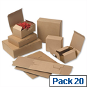 EasiMailer VB1 Kraft Mailing Box W160xD110xH64mm 166812266 Pack 20