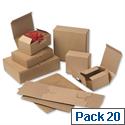 Smartbox EasiMailer VB6 Kraft Mailing Box W220xD155xH50mm Ref 97381006 Pack 20 849613