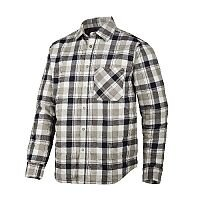 Snickers 8501 RuffWork Padded Flannel Checked LS Shirt Size XS Black/Khaki