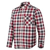 Snickers 8501 RuffWork Padded Flannel Checked LS Shirt Size XS Steel Grey/Red