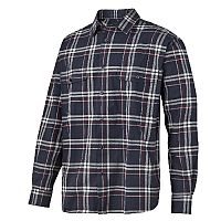 Snickers 8502 RuffWork Flannel Checked LS Shirt Size XS Navy/Red