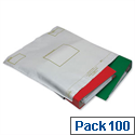 Ampac Oxo-Biodegradable Extra Strong Polythene Protective Envelopes 460x430mm White Pack of 100