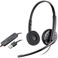 Plantronics Blackwire C320 Binaural/Hi-Fi Stereo USB Wired Headsets Black