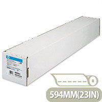 HP White Coated Inkjet Plotter Paper A1 594mm Continuous Roll 90gsm