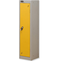 Trexus 1 Door Locker Hasp & Staple Lock Extra Depth ACTIVECOAT W305xD460xH1220mm Silver Yellow Ref 862370