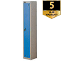 Personal Locker Silver Blue 1 Door Trexus