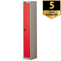 Personal Locker Silver Red 1 Door Trexus
