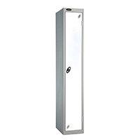 Probe 1 Door Locker ACTIVECOAT W305xD305xH1780mm Silver Body White Doors