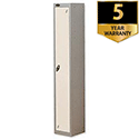 Personal Locker Silver White 1 Door Trexus