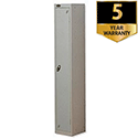 1 Door Locker Extra Depth Silver Trexus