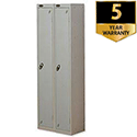 1 Door Locker Nest of 2 Silver Trexus