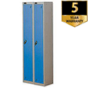 1 Door Locker Nest of 2 Silver Blue Trexus