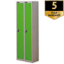 1 Door Locker Nest of 2 Silver Green Trexus