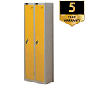 1 Door Locker Nest of 2 Silver Yellow Trexus