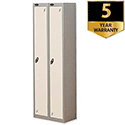 1 Door Locker Nest of 2 Silver White Trexus