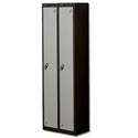 1 Door Locker Nest of 2 Black Silver Trexus