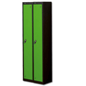 1 Door Locker Nest of 2 Black Green Trexus
