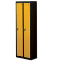 1 Door Locker Nest of 2 Black Yellow Trexus