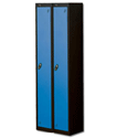 1 Door Locker Nest of 2 Extra Deep Black Blue Trexus