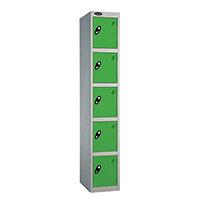 Probe 5 Door Locker ACTIVECOAT W305xD305xH1780mm Silver Body Green Doors