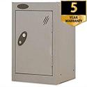 1 Door Small Locker Silver Trexus