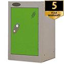 1 Door Small Locker Silver Green Trexus
