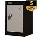 1 Door Small Locker Black Silver Trexus