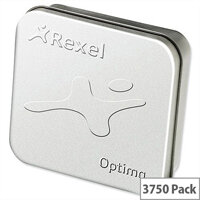 Rexel Optima 56 Staples 26/6mm Tin Pack 3750