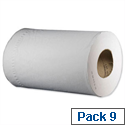 Tork Reflex Mini Wiper White Cleaning Roll 2-Ply 200 Sheets 70m Roll White Pack 9