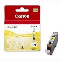 Canon CLI-521 Y ( 2936B001 ) Yellow Ink Cartridge Original - for PIXMA iP3600, iP4700, MP540, MP550, MP560, MP620, MP630, MP640, MP980, MP990, MX860, MX870