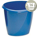 Office Desk Bin Blue Polypropylene 16 Litres D298xH314mm 5 Star
