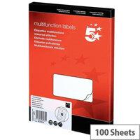 Multifunction Labels 5 Star 105x35mm 16 per Sheet (1600 Labels)