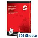 Address Labels 21 per Sheet White 2100 Inkjet Labels 5 Star