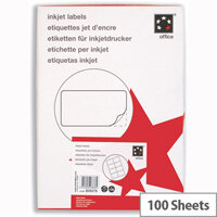 Office Address Labels 8 per Sheet 99.1 x 67.7mm White 800 Labels 5 Star