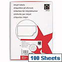 Inkjet Address Labels 8 per Sheet 99.1 x 67.7mm White 800 Labels 5 Star