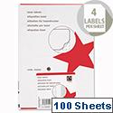 5 Star Address Labels 139 x 99.1mm White (400 Labels)