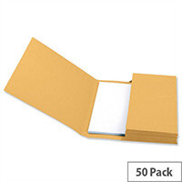 Document Wallet Foolscap Yellow Pack 50 5 Star