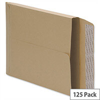 5 Star Office Envelopes Gusset 25mm Peel and Seal 115gsm Manilla 381x254mm Pack of 125