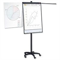 Office Mobile Executive Easel Magnetic with Pen Tray and Extension Arms 5 Star