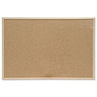 Cork Notice board 600 x 400 mm Pine Frame 5 Star