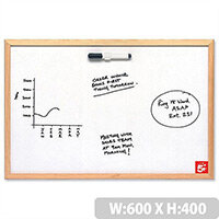 Economy Whiteboard 600 x 400mm 5 Star