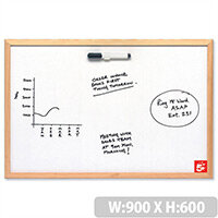 Economy Whiteboard 900 x 600mm 5 Star