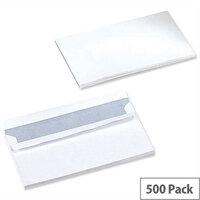 5 Star Office White DL Envelopes Self Seal Wallet 90gsm Pack of 500