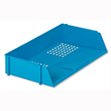 Wide Entry Letter Tray Blue Stackable 5 Star