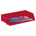 Wide Entry Letter Tray Red Stackable 5 Star