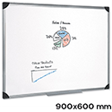Magnetic Whiteboard Aluminium Trim 900 x 600mm 5 Star