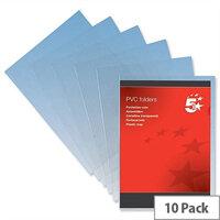 Cut Flush Folder A4 PVC Clear Pack 10 5 Star Premier