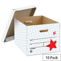 Self Assembly Storage Box Grey 10 Pack 5 Star